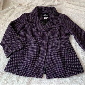 purple & black blazer sz small lined live a little